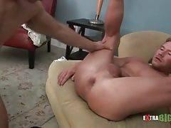 Tough Guy Gives His Buddy Nice Blowjob 2