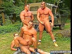 Big Cocks And Jocks is a site dedicated  to the team.  These jocks know the importance of teamwork, and they take this with them long after the game is over.  These guys love the locker room and if you are into muscular jocks getting it on, you will love