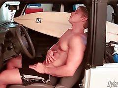 Sexy Brady Jensen Rubs Himself In Car 1