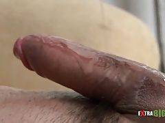Hot Stud Massages His Massive Cock 2